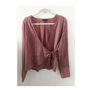 Silk Wrap Long Sleeve